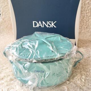 ダンスク(DANSK)の新品●DANSK コベンスタイル 18cm 両手鍋 2L ターコイズブルー(鍋/フライパン)
