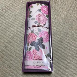 ニシカワ(西川)の撫松庵 西川 手洗いタオル タオル ピンク 蝶々(タオル/バス用品)