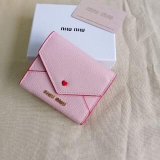 miumiu - 超美品「ミュウミュウ/MIUMIU」折り財布 箱付き ピンク