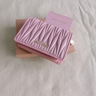 miumiu - 超美品★財布「ミュウミュウ/MIUMIU」折り財布 箱付き