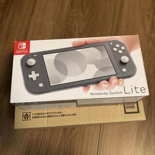 ニンテンドースイッチ(Nintendo Switch)の【新品未使用】Nintendo Switch Lite グレー(家庭用ゲーム機本体)