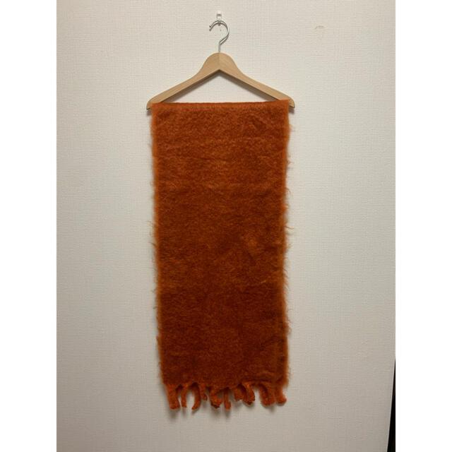 Hermes(エルメス)のHERMES マルジェラ期モヘアショール マフラー ストール オレンジ レディースのファッション小物(マフラー/ショール)の商品写真