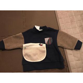 ナルミヤ インターナショナル(NARUMIYA INTERNATIONAL)の子供服 トレーナー+スタイ (トレーナー)