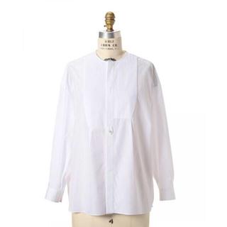 Drawer - Drawer ドゥロワー ピンタックノーカラーシャツ