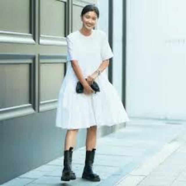 Drawer(ドゥロワー)の田中彩子さん私物セシリーバンセンCECILEBAHNSENワンピースDrawer レディースのスカート(ひざ丈スカート)の商品写真
