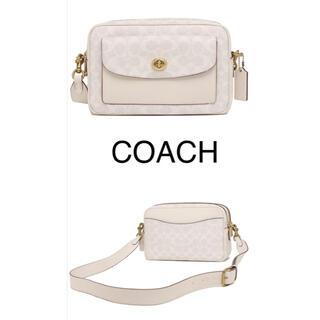 COACH - 新品 COACH カメラバッグ ショルダーバッグ キャシー ホワイト コーチ