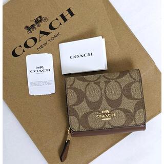 COACH - ★新品タグ付き★ COACH コーチ 三つ折り財布 シグネチャー