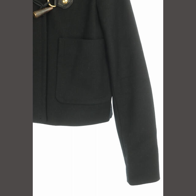 miumiu(ミュウミュウ)のミュウミュウ miumiu コート ショート丈 フード トグル 40 黒 /YW レディースのジャケット/アウター(その他)の商品写真