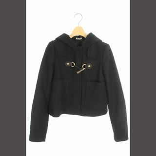 miumiu - ミュウミュウ miumiu コート ショート丈 フード トグル 40 黒 /YW