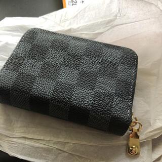 未使用新品 ブロックチェック柄 市松模様小物 コインケース ポーチ 男女兼用財布