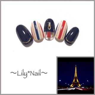 絶景Nail Eiffel Tower (サイズオーダー:ネイルチップ)