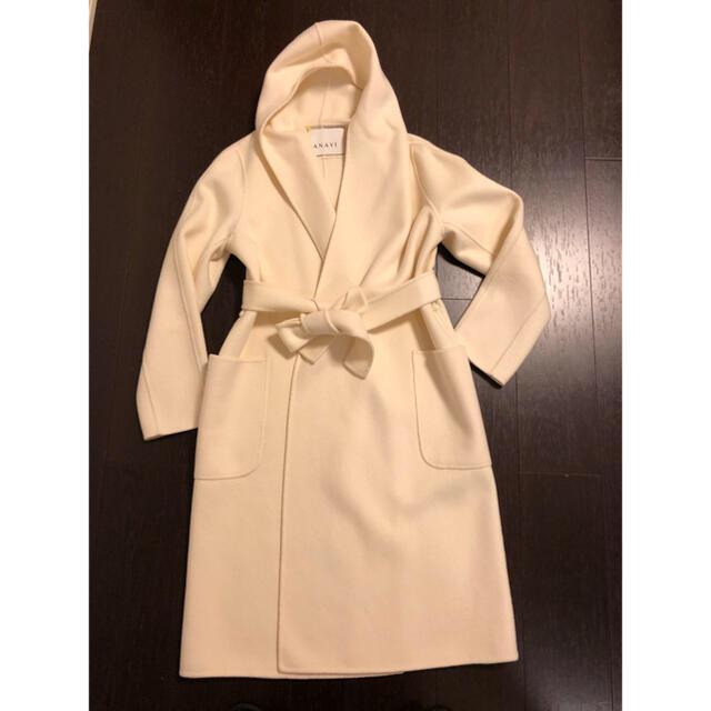 ANAYI(アナイ)のANAYI 白コート34 美品 レディースのジャケット/アウター(トレンチコート)の商品写真