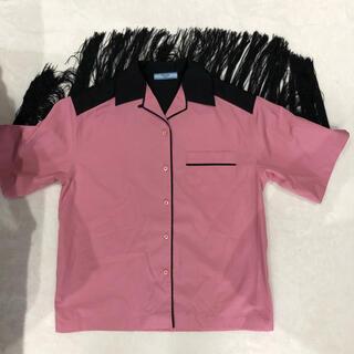 PRADA - PRADA fringe shirt pink