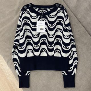CHANEL - Chanel CCロゴ カシミア混み プルオーバー セーター 40