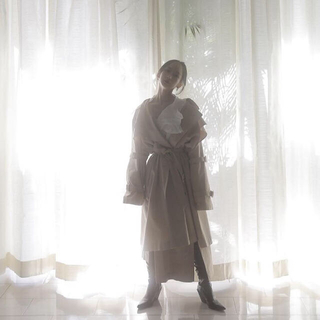 Bubbles - melt the  lady    heavy trench coat ベージュ