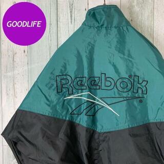 リーボック(Reebok)の【超グッドデザイン⭐︎】【バックロゴ刺繍⭐︎】リーボック ビンテージ ジャケット(ナイロンジャケット)