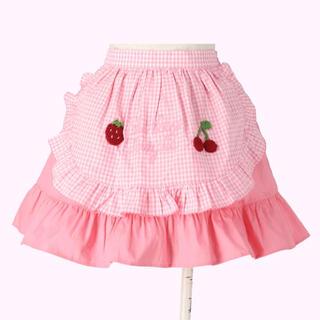 Shirley Temple - 新品 シャーリーテンプル  ギンガムエプロン付きスカート 100