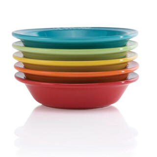ルクルーゼ(LE CREUSET)のルクルーゼ  深皿 ミニ ラウンド ディッシュ 15cm レインボー 5枚セット(食器)