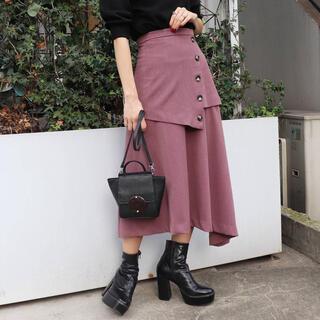 ムルーア(MURUA)のMURUA ハイウエストレイヤードスカート(ひざ丈スカート)