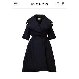 ドゥロワー(Drawer)のMYLAN マイラン 大人気 完売 ダウン コート 黒 新品未使用 タグ付き(ダウンコート)