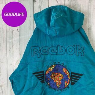 リーボック(Reebok)の【超レアデザイン⭐︎】【バックロゴ刺繍⭐︎】 リーボック ビンテージ ジャケット(ナイロンジャケット)