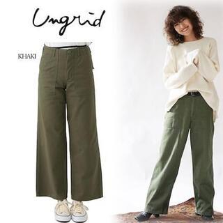 アングリッド(Ungrid)の春服 Ungrid ウォッシュベイカーパンツ S カーキ(ワークパンツ/カーゴパンツ)