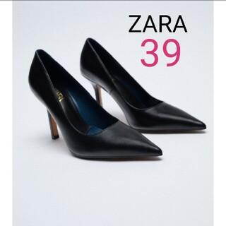 ZARA - ZARA【今季モデル】【美脚】【本革】リアルレザーパンプス