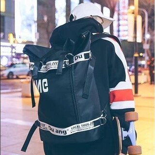 ロールトップ オルチャン ストリート バックパック ゆうパック(リュック/バックパック)
