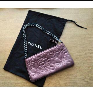 CHANEL - 正規品【美品】激レア Chanel シャネル カメリア アクセサリーミニバッグ