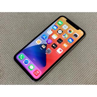 アップル(Apple)のiPhone X シルバーdocomoSIMロック解除済み(スマートフォン本体)