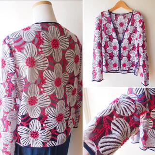 H.P.FRANCE - vintage オーガンジー シースルー フラワー 羽織
