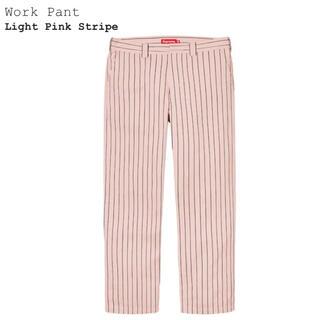 Supreme - SUPREME 21SS Work Pant W32 Pink Stripe