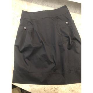 クイーンズコート(QUEENS COURT)のクイーンズコート ブラックスカート(ひざ丈スカート)