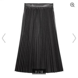 GU - GU フェイクレザー プリーツロングスカート