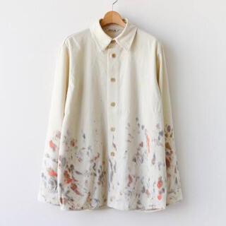COMOLI - 20AW Auralee ウールマックスギャバジン ハンドペイントシャツ