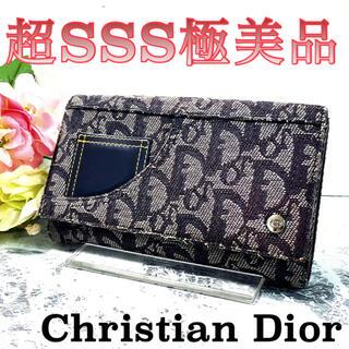 Christian Dior - 超オススメ‼️Dior デニム トロッター Wホック 折り財布