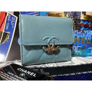CHANEL - 美品⭐︎ CHANEL マトラッセ キャビアスキン ダブルココ 3つ折り財布