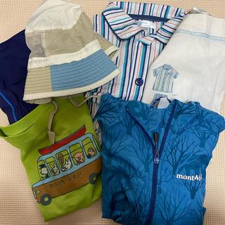 モンベル(mont bell)の男の子 110 モンベル Tシャツ 上着 春服 Tシャツウィンドブレーカー (ジャケット/上着)