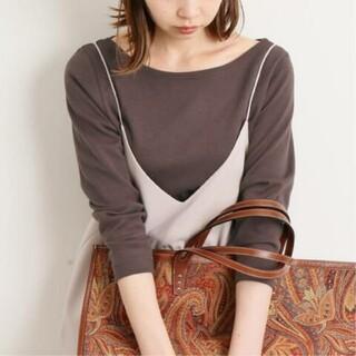 IENA - AURALEE*IENA 別注ボートネックTシャツ 36