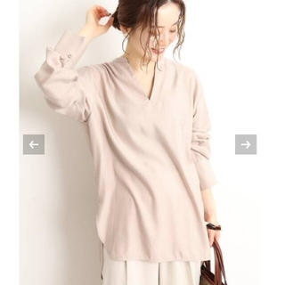 IENA - イエナ♡Cu/PE ロングシャツブラウス ピンク