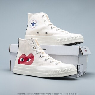 COMME des GARCONS - 【35~44】海外限定CDG Play x CONVERSE 1970s 白
