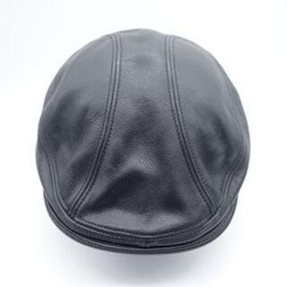 ショット(schott)のSCHOTT LEATHER HUNTING HAT ショット 大名(ハンチング/ベレー帽)