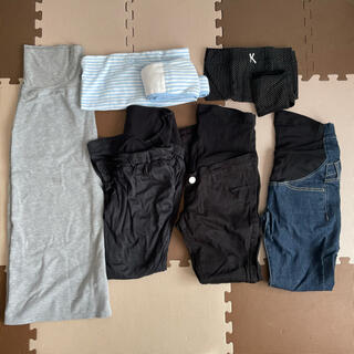アカチャンホンポ(アカチャンホンポ)のマタニティ パンツ・スカート・腹帯8点セット(マタニティボトムス)
