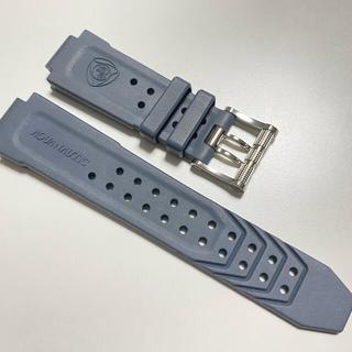 アクアノウティック(AQUANAUTIC)のAQUANAUTIC アクアノウティック 新品 ラバー ベルト グレー 入手困難(腕時計(アナログ))