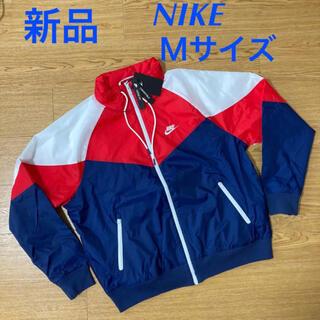 NIKE - 新品ナイキ スウッシュ フーディ ナイロンジャケット パーカー 赤紺白 M