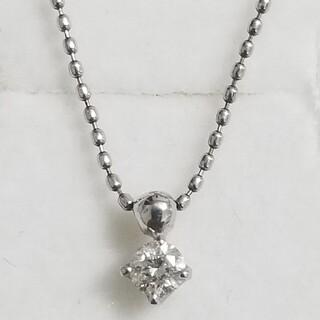✨ほぼ新品✨Pt900/850 1粒ダイヤモンドネックレス(ネックレス)