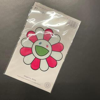 本物 国内正規品 kaikaikiki 村上隆 Stickerお花 ピンク(キャラクターグッズ)