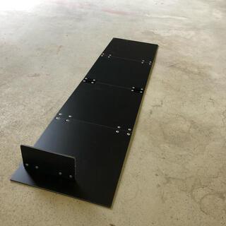 アルミ板メジャーボードスケール【黒】(ルアー用品)