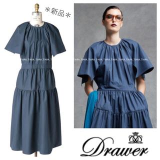 Drawer - ⭐️新品⭐️Drawer 完売コットンフレアスリーブティアードワンピース💫