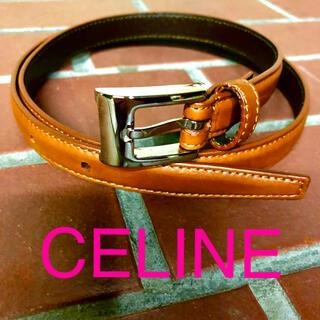 celine - 美品 CELINE セリーヌ シンプル ベルト 茶色 ブラウン